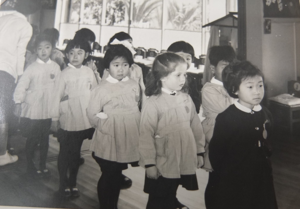 Pamela at school in Japan