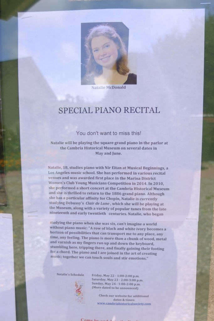 piano recital notice