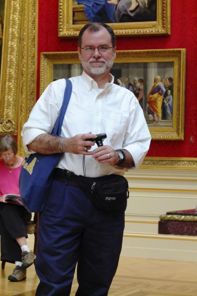 William with UCLA bag
